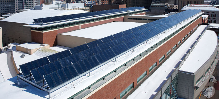 RiverCentre Solar Thermal System